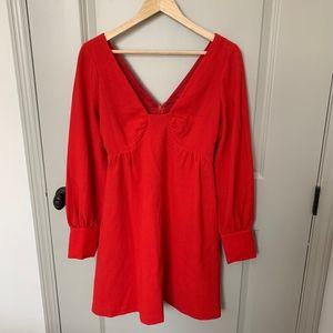 Tibi Short Red Knit Dress (6)